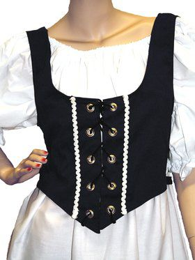 Ladies Black Renaissance Vest