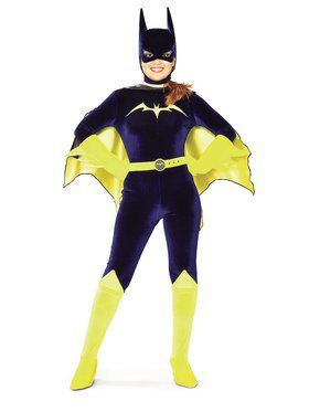 Ladies Gotham Girl Batgirl Velvet Costume