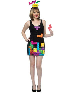 Ladies Interactive Tetris Adult Costume