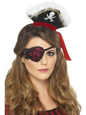 Ladies Red Pirate Eyepatch