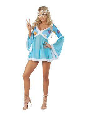 Sassy Flower Power Costume for Adults