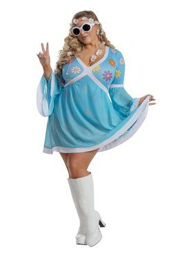 Flower Power Sassy Costume for Adults