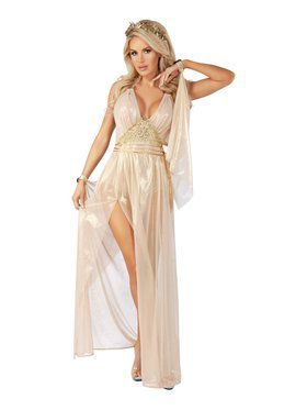 Sassy Gilded Goddess Costume for Adults