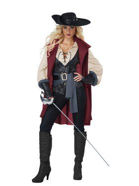 Lady Musketeer Costume for Women