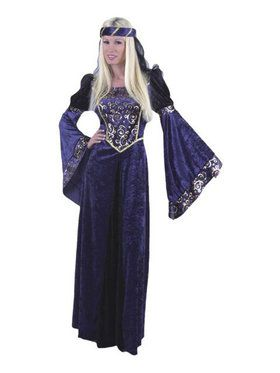 Lady Renaissance Navy Black Adult Costume