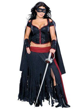 Lady Zorro Costume Plus
