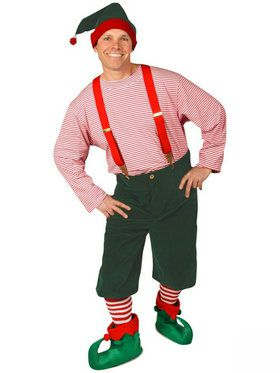 Large Workshop Elf Men's Costume