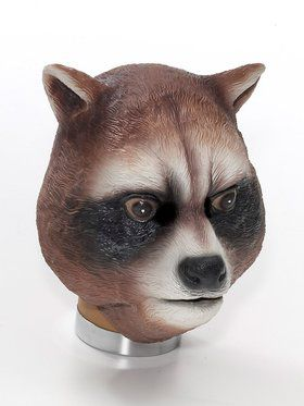Latex Raccoon Mask Adult