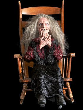 Laughing Witch Hag Rocking Prop