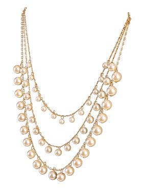 Layered Pearl Necklace Accessory