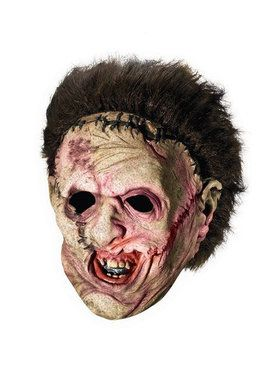 Leatherface Deluxe Adult Overhead Mask with Hair