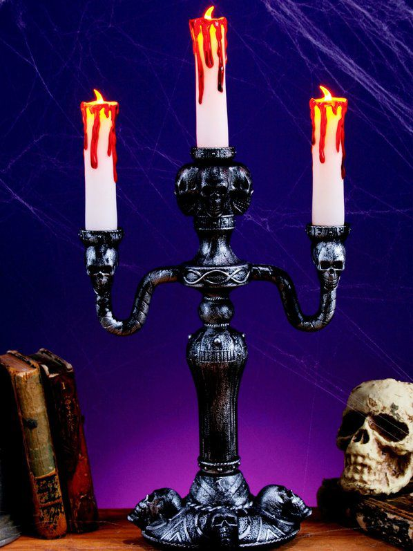 14 led haunted mansion candelabra halloween decorations for Home decor 91711