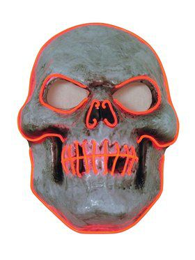 L.E.D Skull Mask for Adults