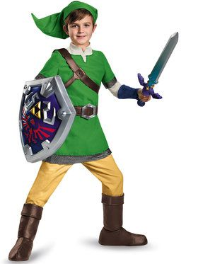 Legend Of Zelda Link Deluxe Boy's Costume