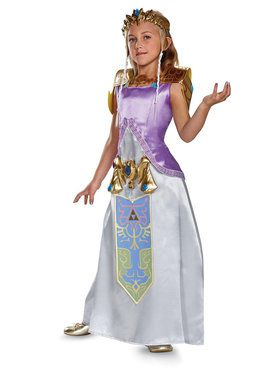 Legend of Zelda Princess Zelda Deluxe Costume For Children