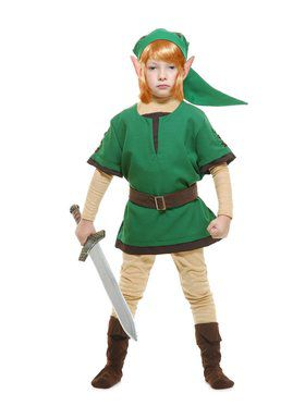 Legends of Zelda Elf Warrior Child Costume