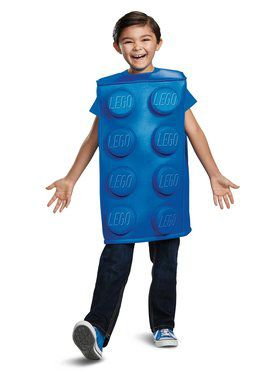Blue Brick Lego Costume for Children