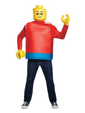 Iconic Lego Guy Classic Costume for Adults