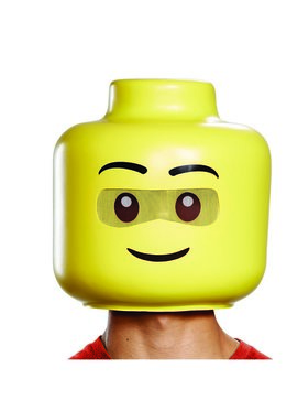 Iconic Adult Lego Guy Full Mask
