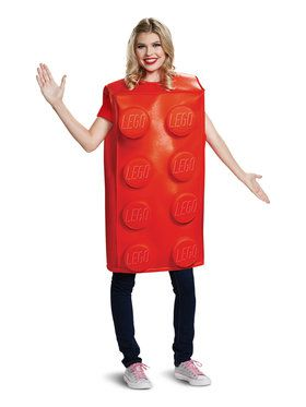 Red Brick Lego Costume for Adults