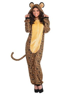 Leopard Onesie Costume For Adults