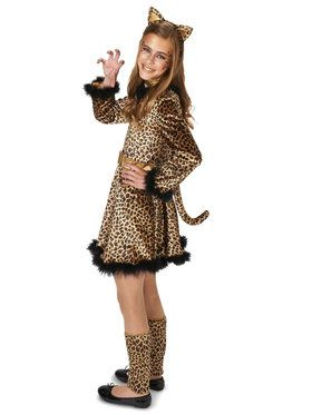 Leopard Dress Tween Costume for Halloween