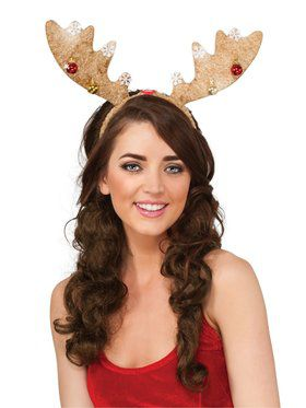 Light Brown Light-up Antlers