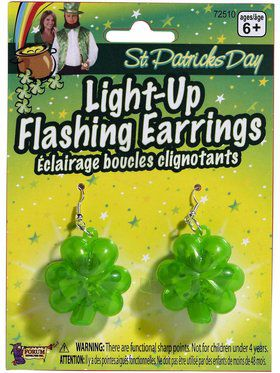 Light Up 4 Leaf Clover Earrings
