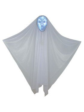 "Light Up Hidden Face 60"" Ghost Decoration"