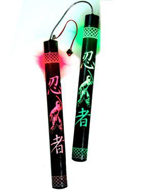 Light Up Multicolored Color Change Nunchucks