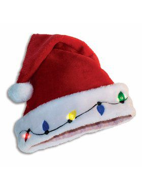 Light UP Adult Santa Hat