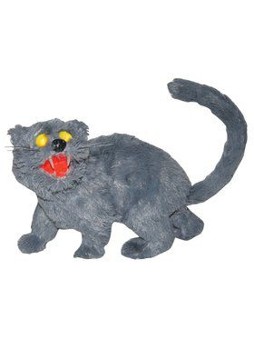 Sonic Sound Light up Gray Cat Decoration