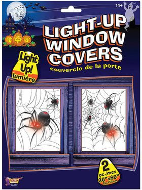 Light Up Spider Window Covers
