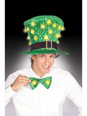 Light Up St. Pats Shamrock Tie