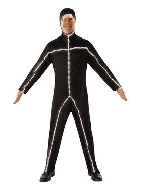 Mens Glow in the Dark Stick Man Costume