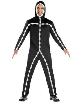 Adult Light Up Stick Man Costume For Adults