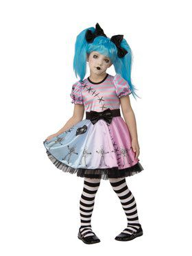 Child Little Blue Skelly Costume