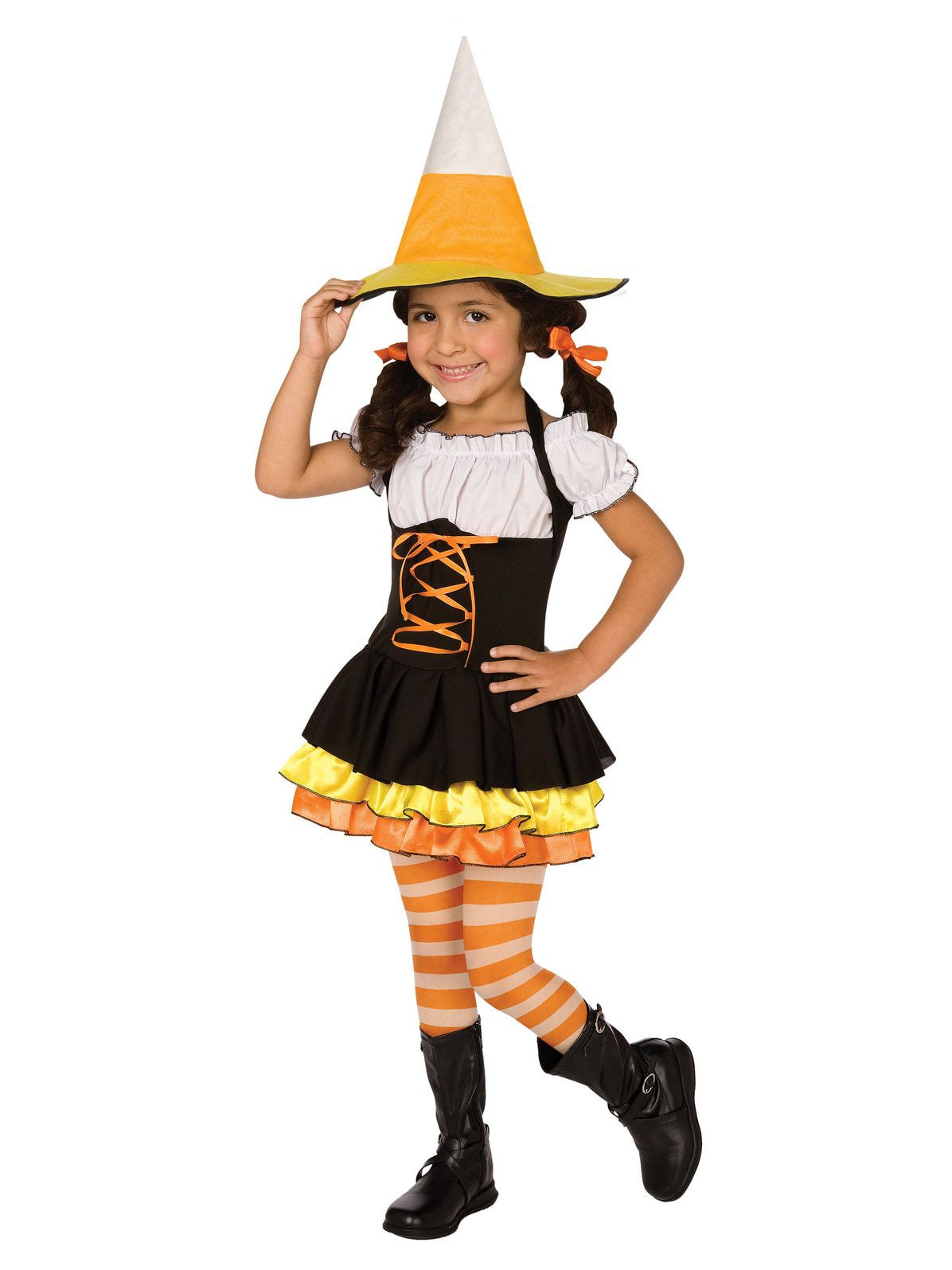 Little Candy Corn Witch Costume For Toddlers