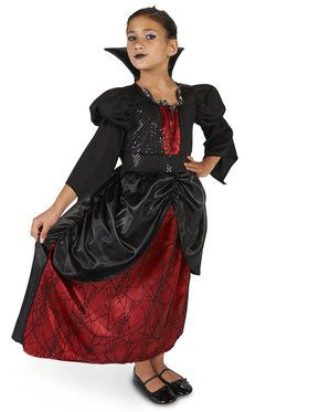 Little Vampire Queen Costume For Children