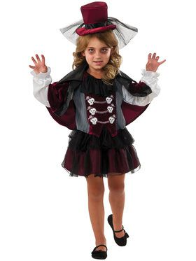 Little Vampiress Costume for Girls