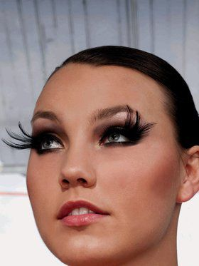 Long Feather Eyelashes Black