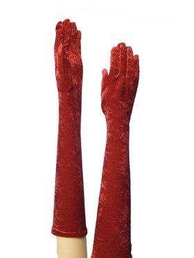 Red Long Gloves for Adults