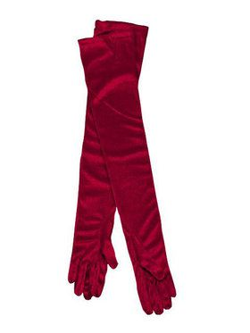 Long Red Gloves Adult