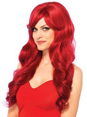 Long Wavy Red Wig Adult