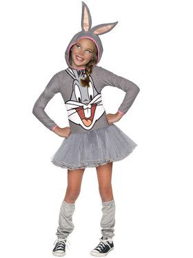 Looney Tunes Bugs Bunny Hooded Girls Costume