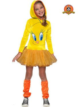 Looney Tunes Tweety Hooded Girls Costume