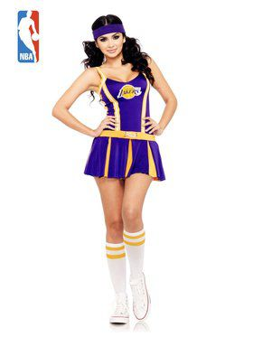 Los Angeles Lakers Cheerleader Sexy Women's Costume