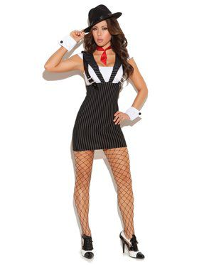 Machine Gun Greta Gangster Adult Costume