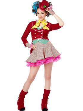 Mad As A Hatter Girl's Costume
