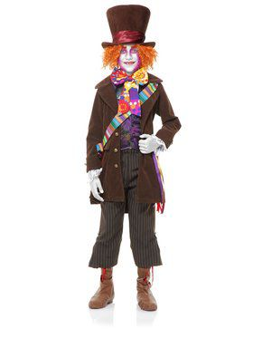 Kid's Neon Mad Hatter Costume Set